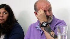 Sergio Maldonado y su esposa, Andrea Antico, ayer en una conferencia de prensa en la sede de Amnistía Internacional.