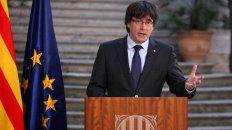 Carles Puigdemont habló esta mañana al pueblo catalán.