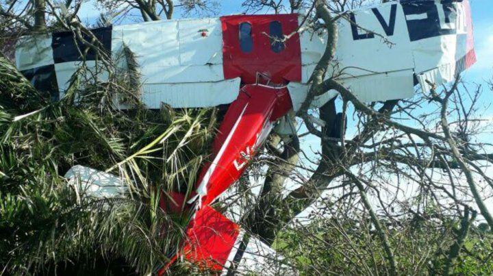 El Cesna C 150 se estrelló entre unos árboles en un campo cercano a Esperanza.