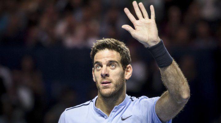 Del Potro se metió en la final de Basilea y definirá ante Federer para estar más cerca del Masters
