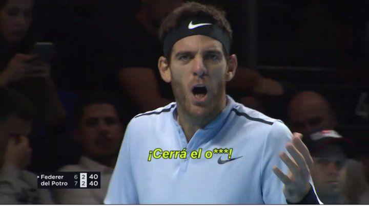 Del Potro descargó su ira con el público durante la final que disputó con Federer