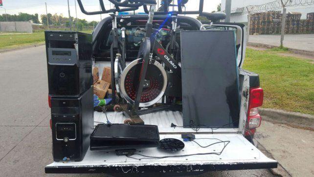 Tres detenidos por robar elementos del gimnasio del predio de Newells en Bella Vista