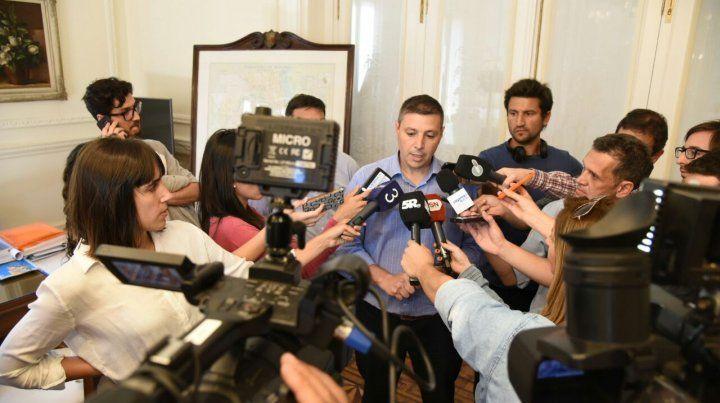 El secretario de Gobierno Gustavo Leone anunció el cese de la concesión de La Florida.