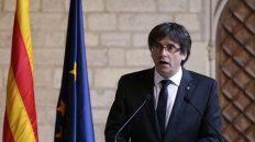 pasado. Puigdemont al frente de la Generalitat. La imagen es de la semana pasada, pero parece tener años.
