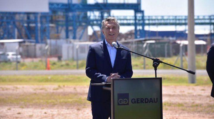 Hace 40 años que no se construía una acería, dijo Macri al inaugurar la planta Gerdau
