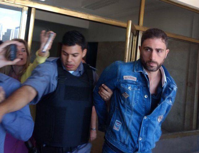 El arresto. Leandro Santos fue detenido hoy