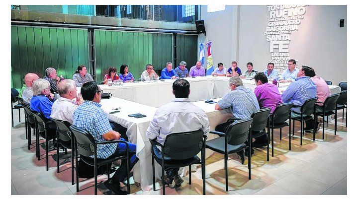 Muestra de unidad. La reunión efectuada en las sede de Festram.