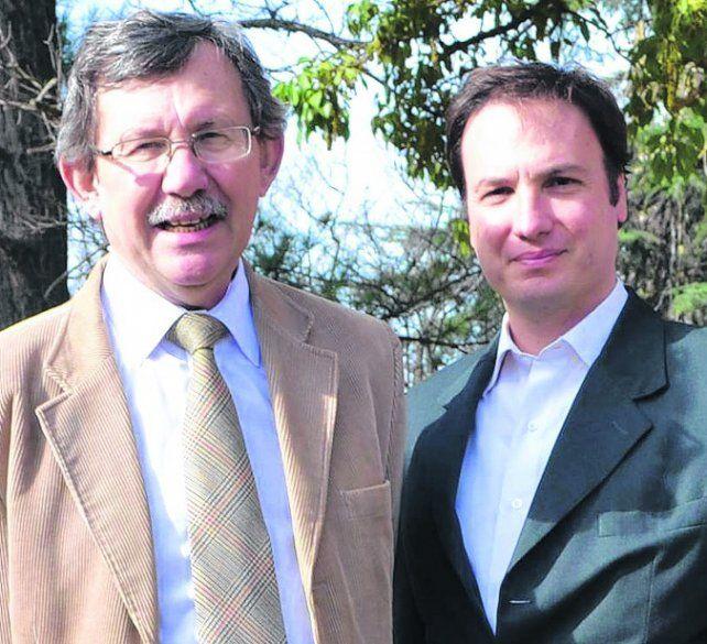 Otros tiempos. Carlos Díaz Vélez (Izq.) y Lisando Enrico juntos.