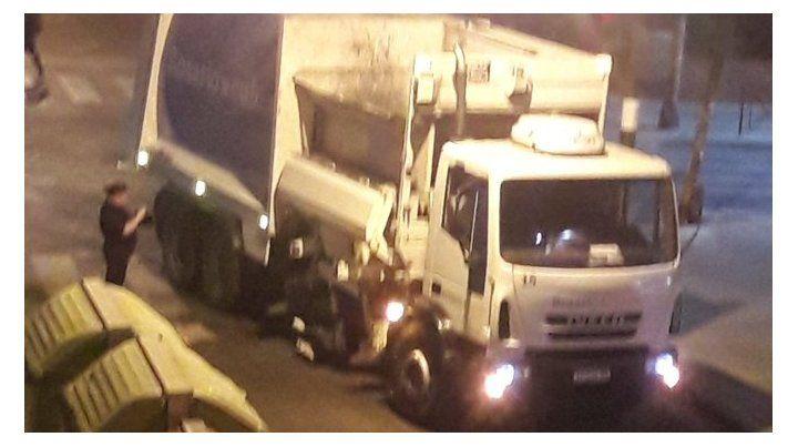 Primeas imágenes del accidente que sucedió en Maipú y 9 de Julio.