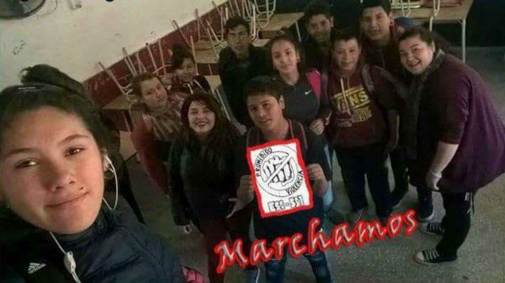 Los alumnos de la escuela Sonia Beatriz González.