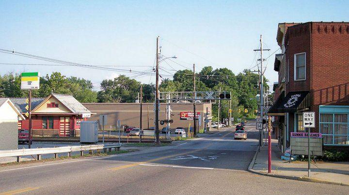 Una calle de la pequeña Williamstown
