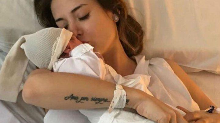 La primera foto de la hija de Jésica Cirio y Martín Insaurralde
