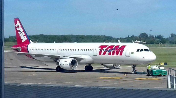 Dios de los sobrevivientes llegaron en un vuelo de TAM.