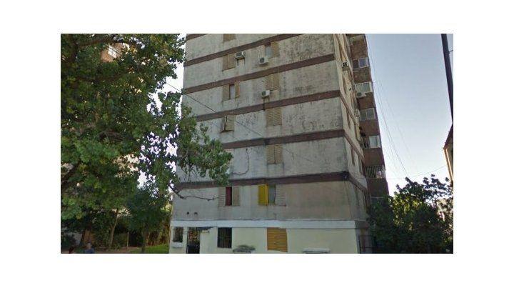 La torre donde ocurrió el hecho policial.