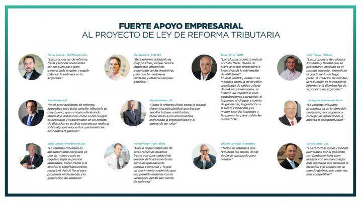 Fuerte apoyo empresarial al proyecto de reforma tributaria del gobierno