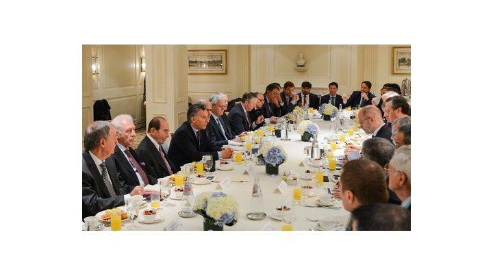 desayuno de trabajo. Macri fue invitado por el Consejo Empresarial para el Entendimiento Internacional.