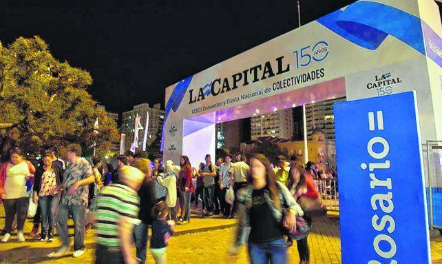Portal de bienvenida. La Capital tiene este año una marcada presencia en la tradicional fiesta popular.