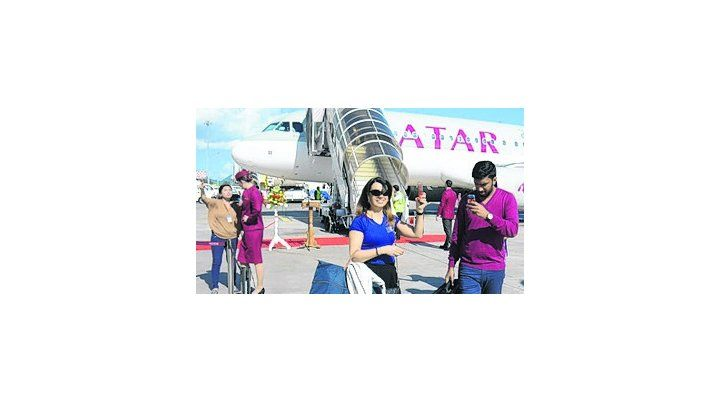 Pasó en el vuelo de Qatar Airways.