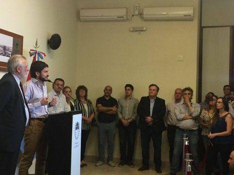 A Pullaro ayer lo acompañaron el ministro Silberstein, el diputado Galassi y el senador Michlig. <br>