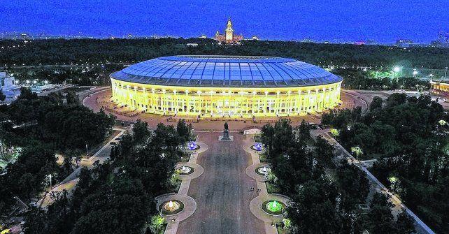 Luzhniki. El estadio del amistoso entre Argentina y Rusia del sábado será también el de la final del Mundial 2018.