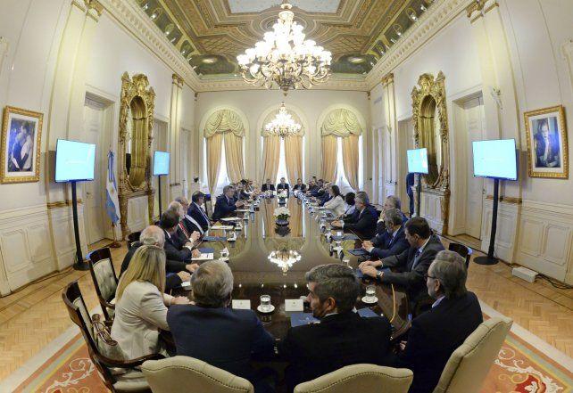 Los gobernadores se reunieron con el presidente en la Casa Rosada.