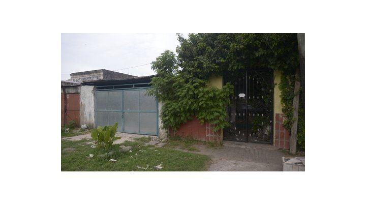 el frente. La casa donde vive y fue atacado Eduardo en la zona oeste.