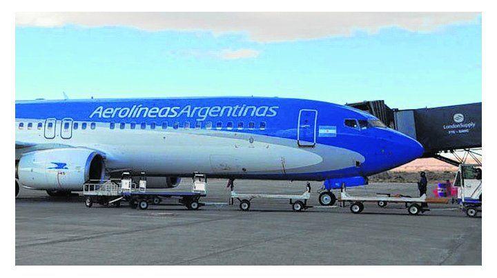 máquina. El vuelo AR185 llegó a Aeroparque y provenía de Río Gallegos.
