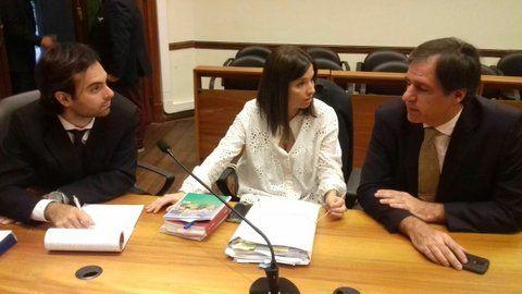 fiscales. Gabriela Arri(centro) condujo la acusación junto a su superior