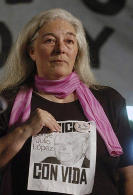 nilda eloy. Integrante de la Agrupación Ex Detenidos.Desaparecidos.