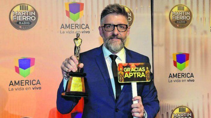 Luis Novaresio se coronó con el Martín Fierro de Oro en radio
