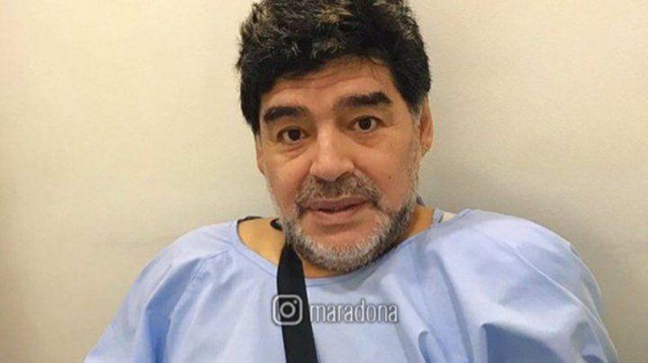 Diego, operado de los ligamentos del hombro