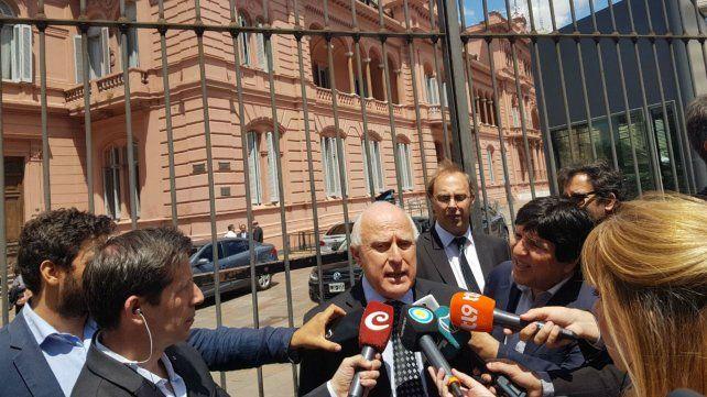 El gobernador salió de la Casa Rosada con expectativas.