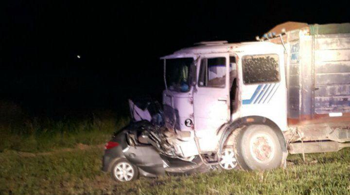 Imagen dantesca del accidente ocurrido anoche en la ruta 33.