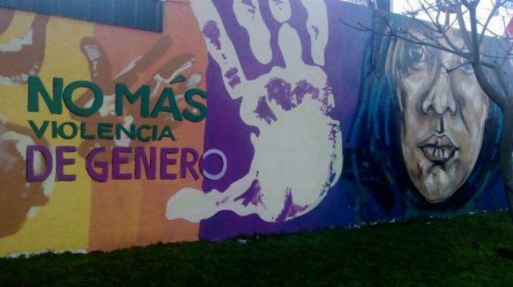 El asesinato de Marlene generó distintas manifestaciones y su imagen quedó plasmada en un mural.