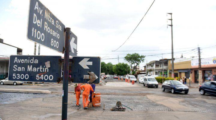 La esquina donde comenzarán a reestructurar avenida del Rosario.