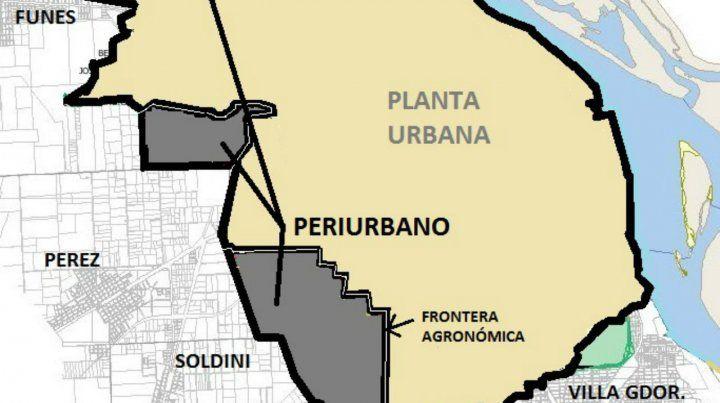 Mapa. Rosario tiene una frontera agronómica bien definida