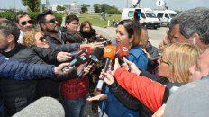 Bronca. Itatí Leguizamón, esposa de uno de los suboficiales del submarino perdido.
