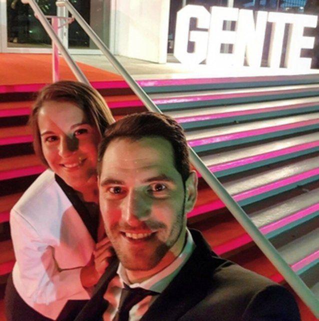 En la gala. El Flaco Ardusso y su novia Gina