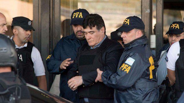Zannini es conducido esta mañana a la sede de los Tribunales Federales.