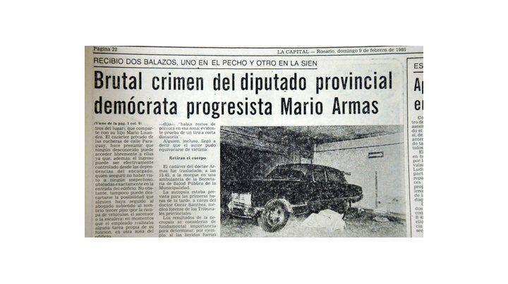 en las páginas de la capital. En los 80 el diario reflejaba el asesinato en la cochera de Paraguay al 800.