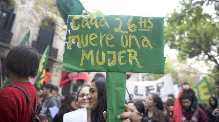 Una de las marchas para pedir alto en la violencia de género.