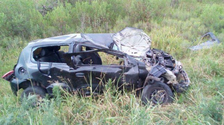 El automóvil que conducía la víctima fatal.