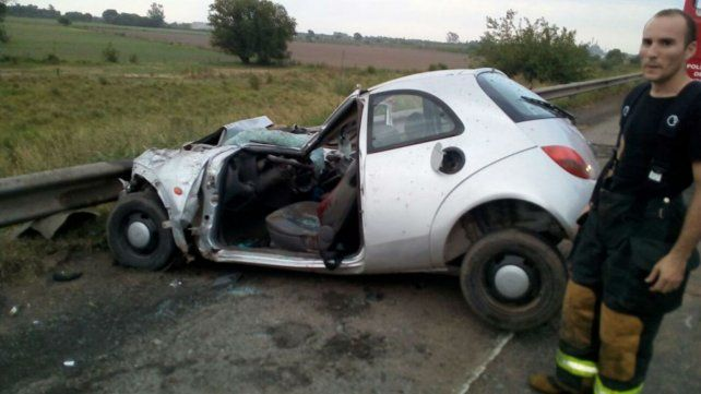 El automóvil Ford K quedó totalmente destruido.