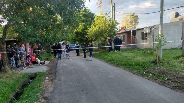 La escena del crimen en Juan José Paso y Acevedo.