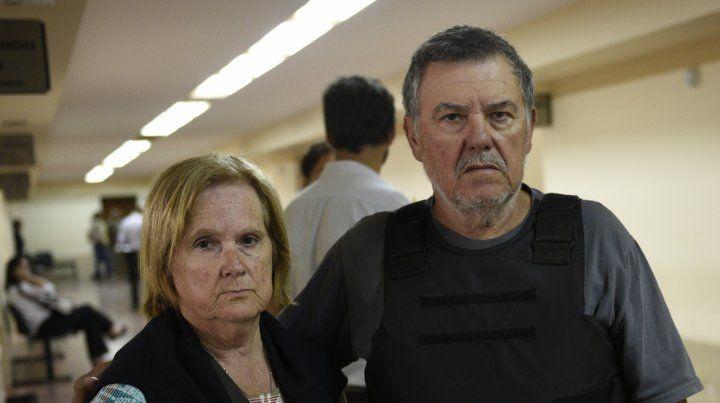 Alberto Perassi y su mujer