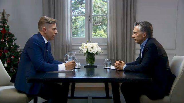 Frente a frente. Macri culminó tal vez su peor semana en el gobierno con una entrevista con Fantino.