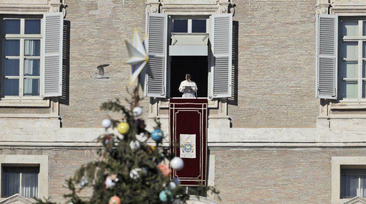 En su mensaje de Navidad, el Papa pidió por los secuestrados