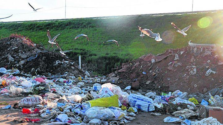 a cielo abierto. La disposición final de los residuos incluye la basura dejada en la vía pública.