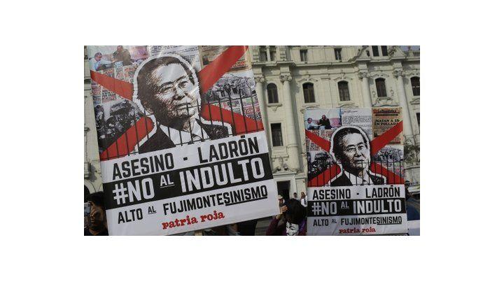 Malestar social. Antifujimoristas protestaron contra el indulto
