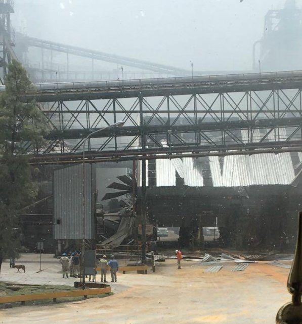 Las impactantes imágenes de la explosión de la cerealera